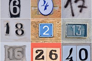 Different house numbers.