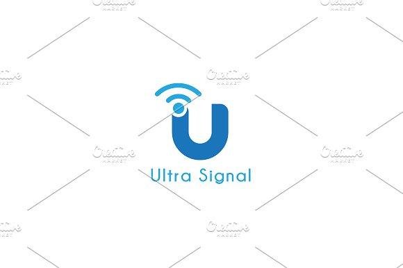 Ultra Signal - Letter U Logo