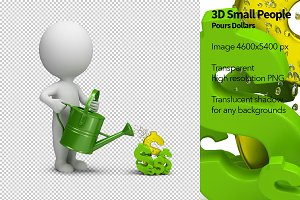 3D Small People - Pours Dollars
