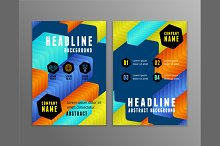 Flyer with Colorful Arrows Geometric