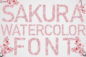 Sakura Watercolor Font