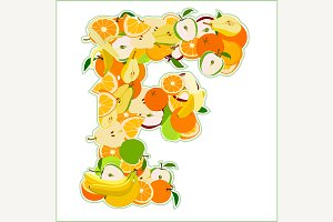 F made of fruits
