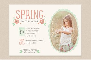 Spring mini sessions flyer
