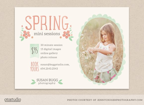 spring mini sessions flyer flyer templates creative market