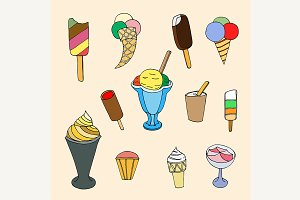 cartoon ice cream