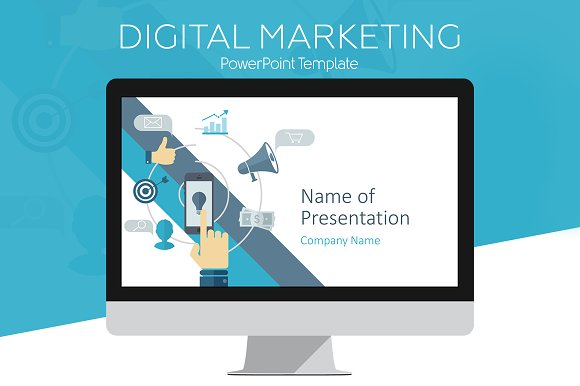 digital marketing template presentation templates creative market