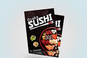 A4 / A5 - Sushi Flyer Template Sushi