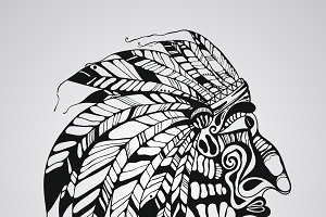 Vector Tattoo, Native American India