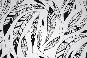 Vector Seamless Pattern with Feather