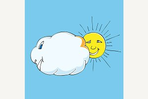 cloud and sun