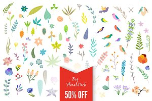 Big Vintage Floral Pack 50% off