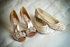 wedding shoes, lesbian couple