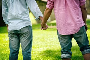 gay couple holding hands #1