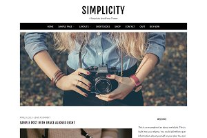 Simplicity Feminine WordPress Theme