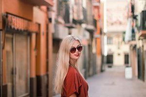 blonde woman portrait