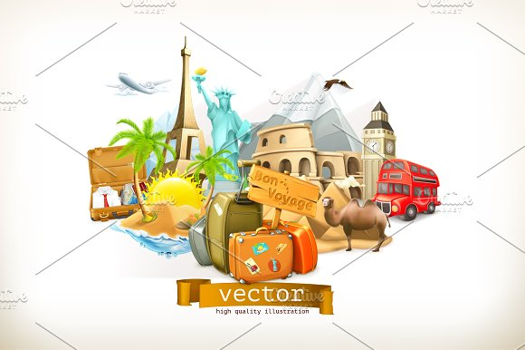 Travel Vector Illustration  Icons  Creative Market-9762