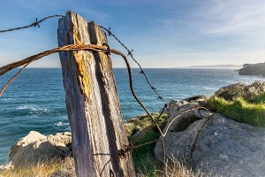 Old rusty wire fence