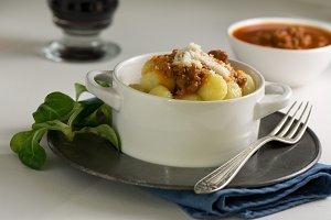 Potato gnocchi, italian pasta