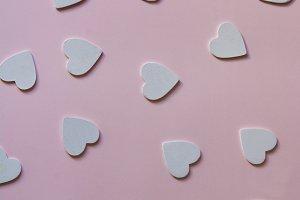 Multiple foamy herat shapes, pink