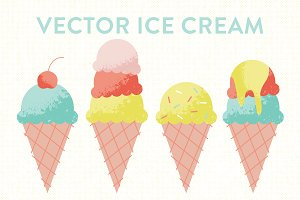 Vector Ice Cream Cones