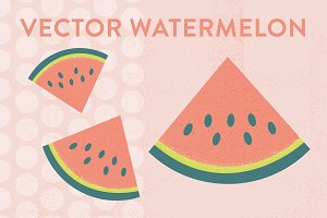 Watermelon and Polka Dots