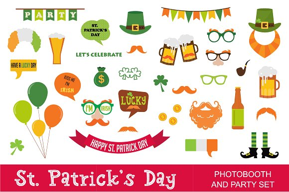 St. Patrick's Day photoprops & icons - Illustrations