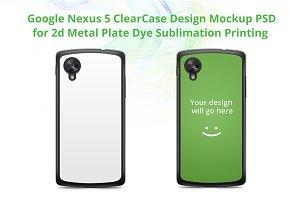 Google Nexus 5 Clear Case mockup