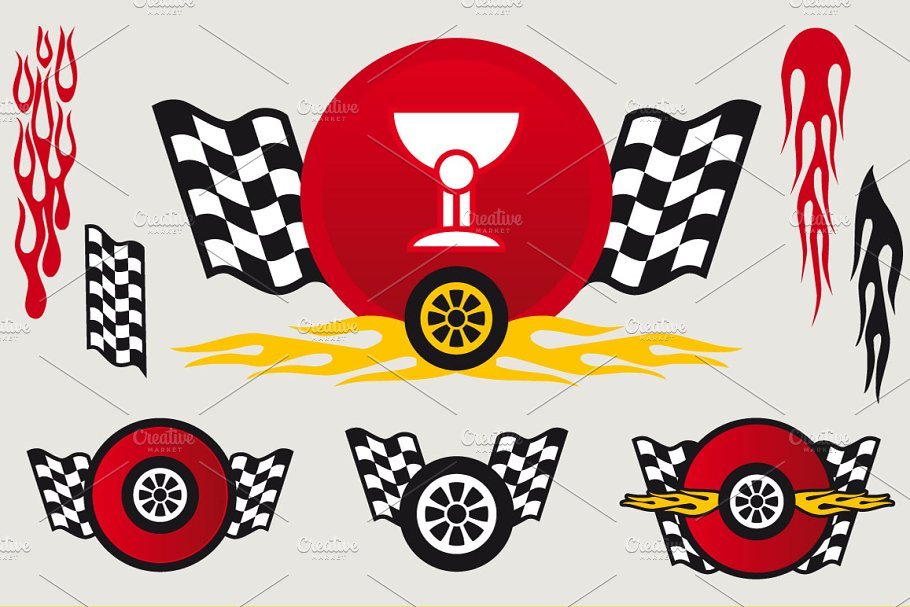 Racing decals