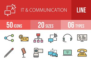 50 IT&Communication Line Filled Icon