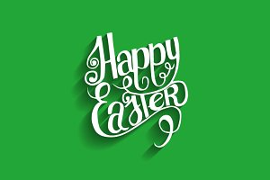 Happy Easter. Lettering.