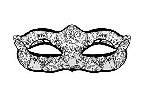 Hand drawn mask