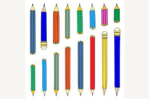 Set of pencils.