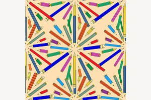 colored pencils seamless background