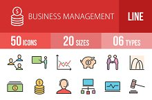 50 Business Line Filled Icons