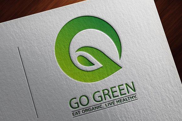Go green logo logo templates creative market reheart Image collections