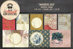 Journal Cards - Wonderland