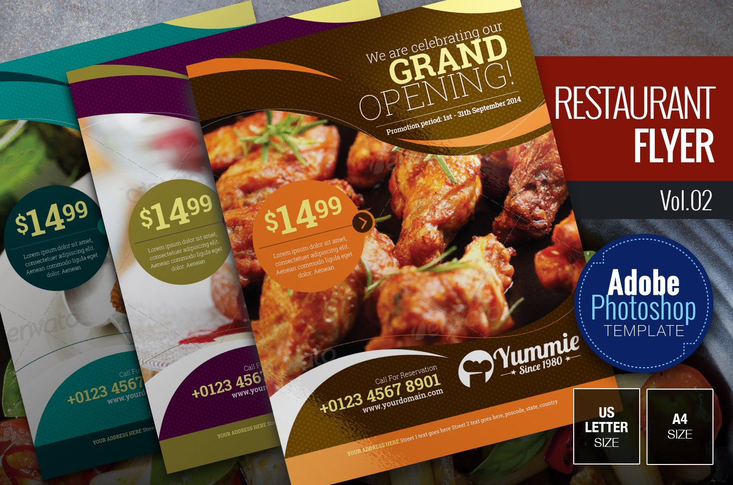 restaurant flyer vol 02 flyer templates creative market