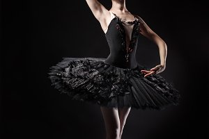 Slim ballerina in black corset