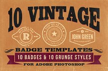 10 Vintage Badge Templates