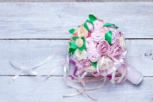 bridal bouquet of silk ribbons