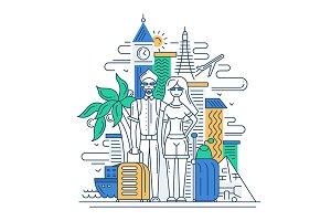 Travelers Lifestyle Illustratration