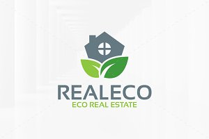 Eco Estate Logo Template