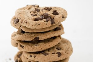 A Tower of Chocolate Chip Cookies