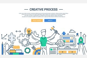Creative Process Webdesign Banner