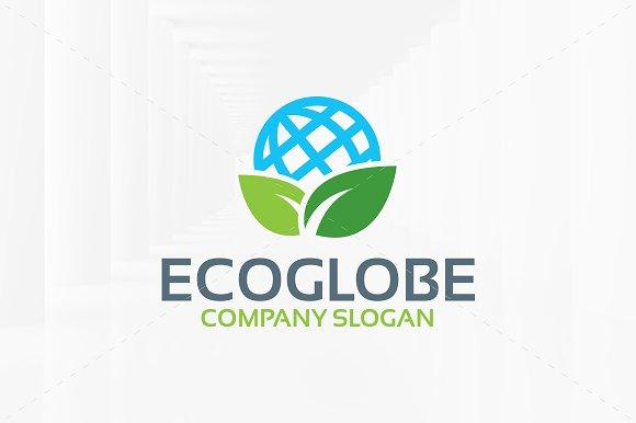 Eco Globe Logo Template