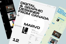 Marvo — Portfolio Figma Template by  in Websites