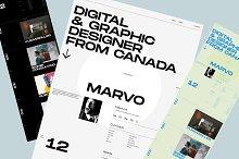 Marvo — Portfolio Figma Template by  in Websites