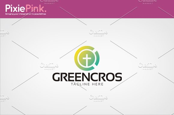 Green Cross Logo Template in Logo Templates