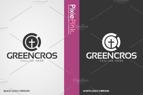 Green Cross Logo Template in Logo Templates - product preview 1
