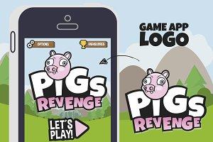 PigsRevenge! Game App Logo Template
